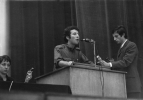 Daniel Bensaïd en meeting, 1969